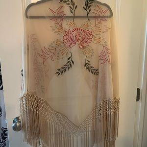 Bright floral shawl